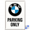Blechpostkarte BMW-Parking Only