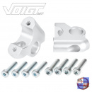 Bar riser 32/24mm for BMW GS LC & Adventure silver