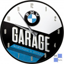 Wanduhr BMW-Garage